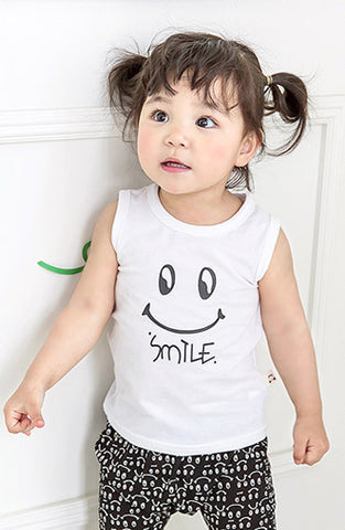 Unisex Smile Sleeveless T-Shirt 2017