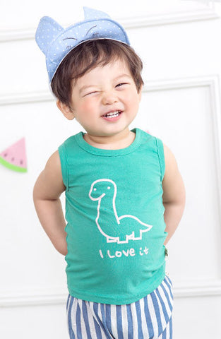 Boys & Girls Dinosaur Sleeveless T-Shirt
