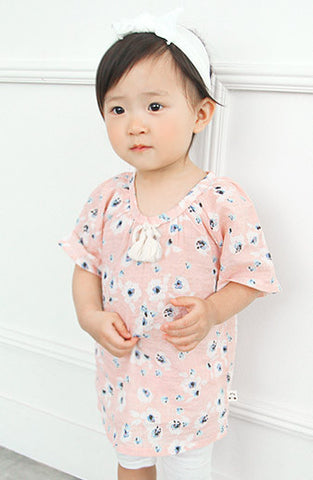 Cloud Flower Blanc short sleeve dress