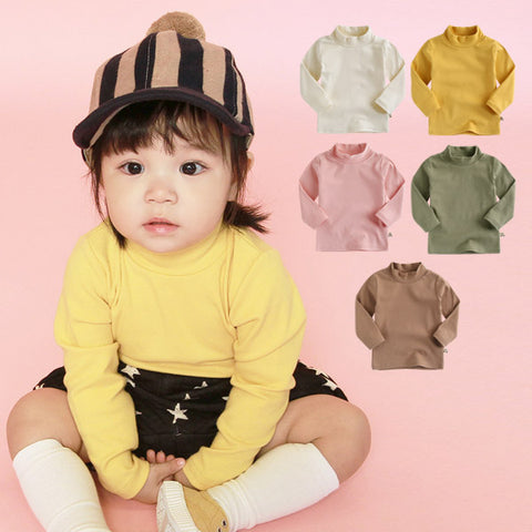 Agibaby Boys & Girls Infant & Toddler Long Sleeve Turtleneck T-shirt