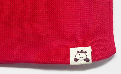 Agibaby Kkakkungnoriter Organic cotton beanie hat for baby - red- made in South Korea