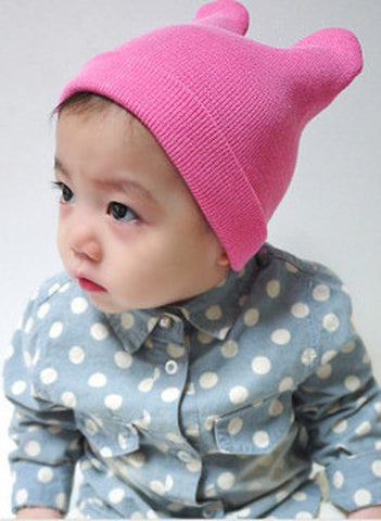 Agibaby Kkakkungnoriter Organic cotton beanie hat for baby - pink- made in South Korea
