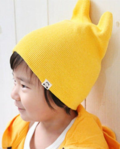Agibaby Kkakkungnoriter Organic cotton beanie hat for baby - yellow - made in South Korea