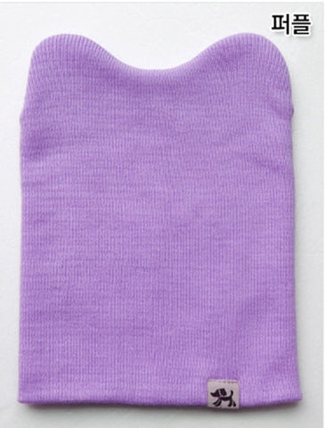 Agibaby Kkakkungnoriter Organic cotton beanie hat for baby - lavendar- made in South Korea
