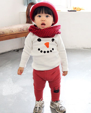 "Agibaby Boys and Girls Infant & Toddler long Sleeves Tshirts ""Snowman"""