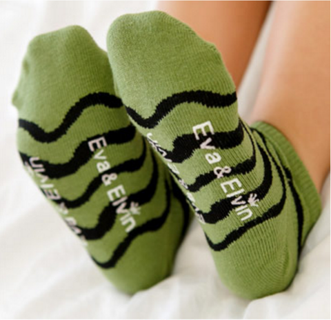Mesh Ankle Socks- Wave Green