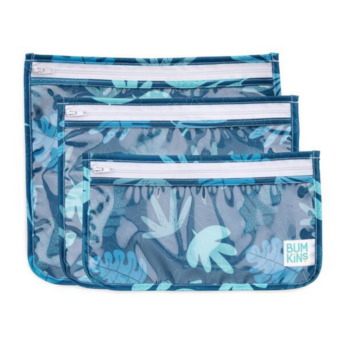 Clear Travel Bag-Blue Tropic