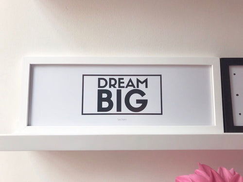 "Cuadro ""Dream Big"""