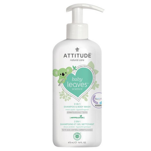 Shampoo y gel de baño BABY LEAVES- Sweet Apple (473ml)