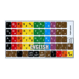Learning English Colored Keyboard Stickers (Lower & Upper case)