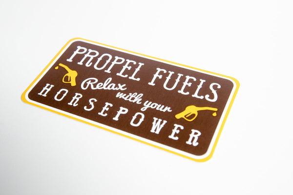 Relax with your Horsepower Decal - 4""