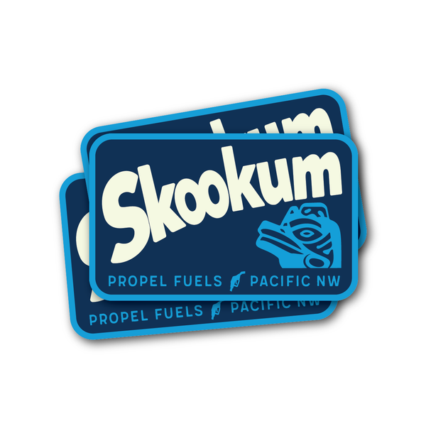 Blue Skookum Decal - 3.75""