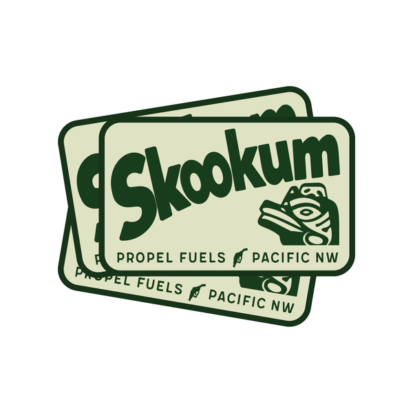 Green Skookum Decal - 3.75""