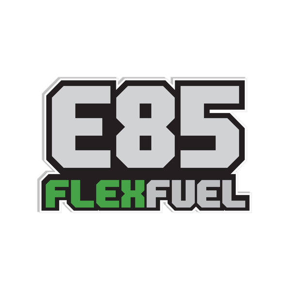 Flex Fuel E85 Decal 3.75""