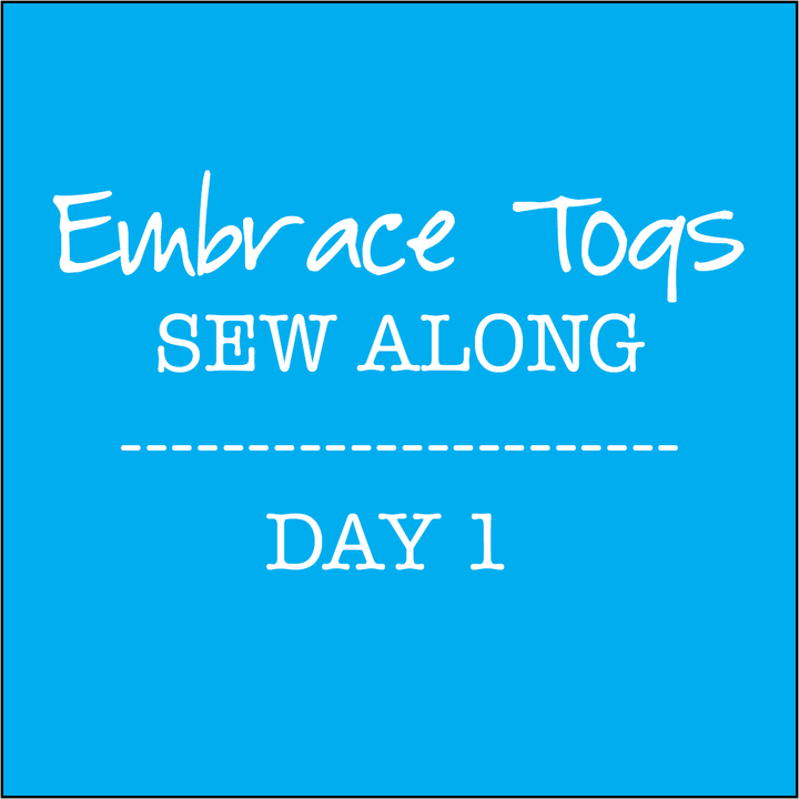 Embrace Togs Sew Along - Day 1