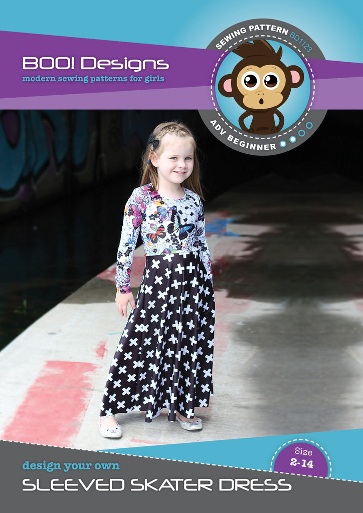 PDF Pattern: Sleeved Skater Dress