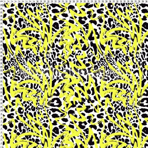 Spandex Animal Graffiti Yellow