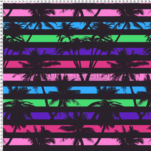 Spandex Tropical Stripe