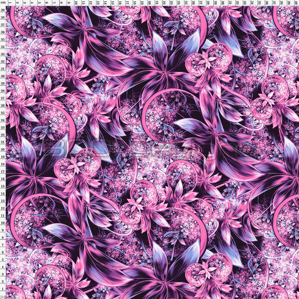 Spandex Enchanted Garden Pink