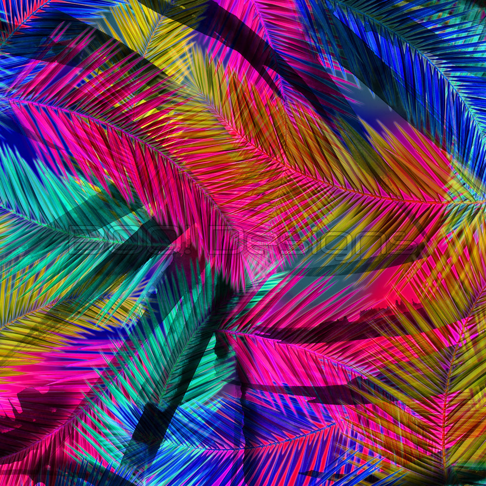 Spandex Palms Rainbow