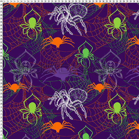 Spandex Spiders Purple