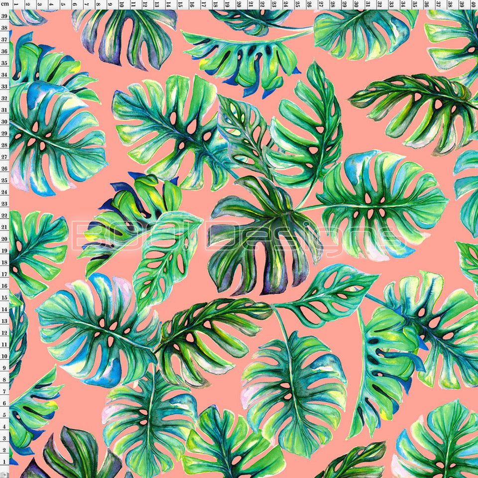 Spandex Zed Monstera Coral