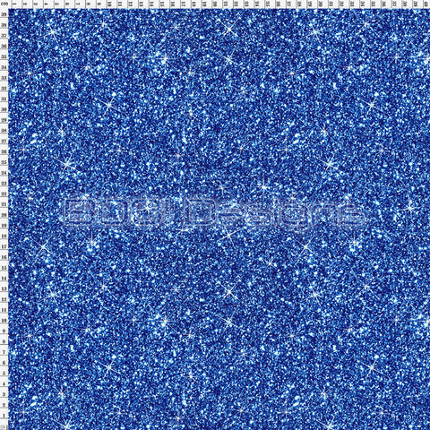 Spandex Printed Glitter Royal