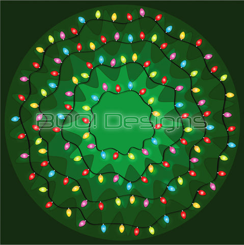 Spandex Glitter Circle Panel Xmas Lights Large