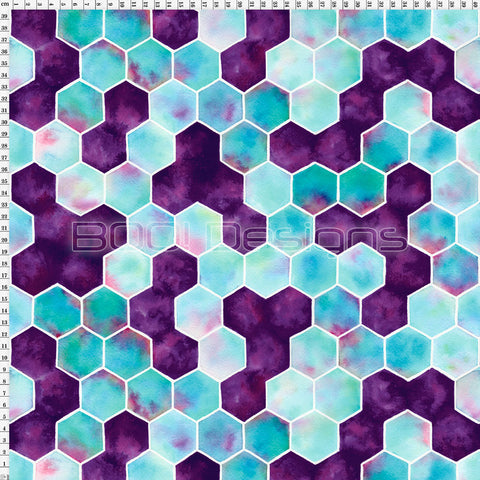 Spandex Hummingbird Hexagons