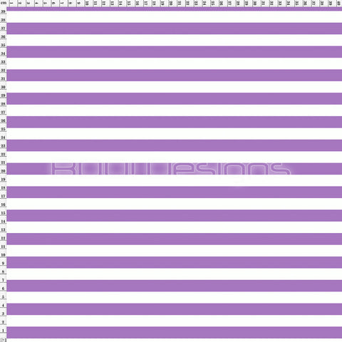 Spandex Stripes 14mm Warrior Purple