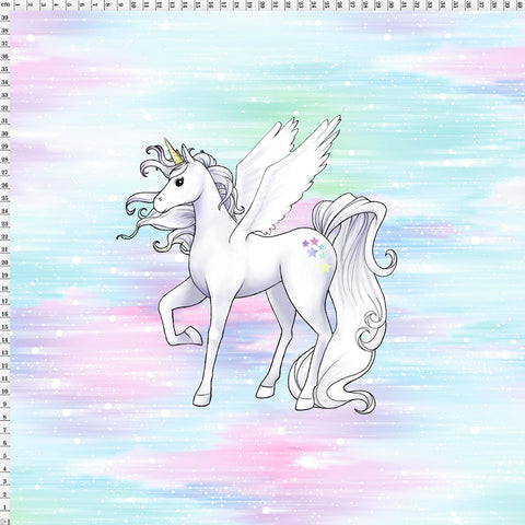 Spandex Panel Unicorn Enchanted