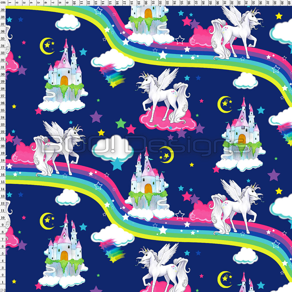 Spandex Unicorn Fantasia Navy