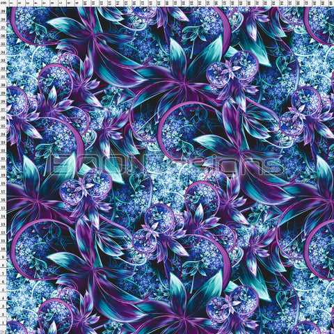 Spandex Enchanted Garden Purple
