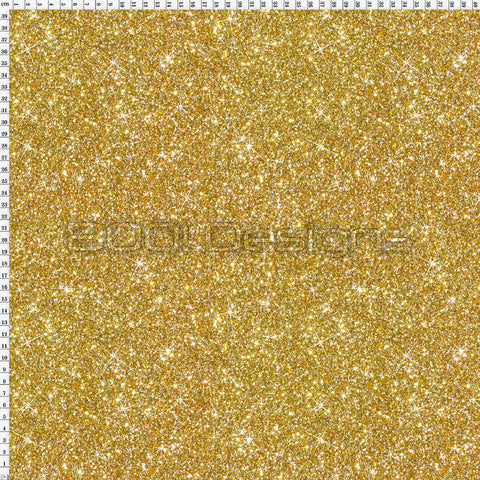 Spandex Printed Glitter Gold