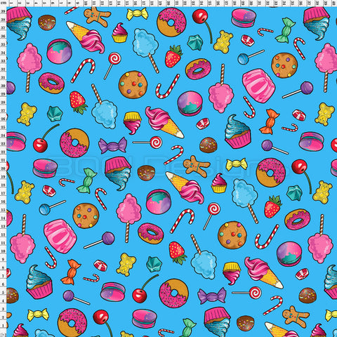 Spandex Candy Scatter Aqua