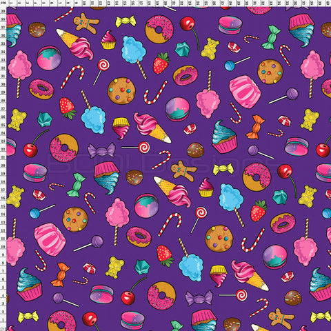 Spandex Candy Scatter Purple