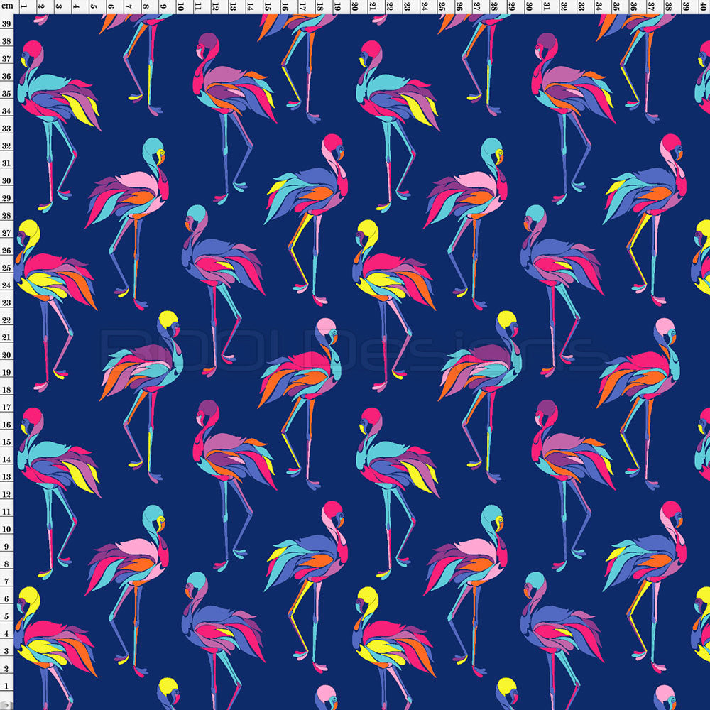 Spandex Geo Flamingo Navy