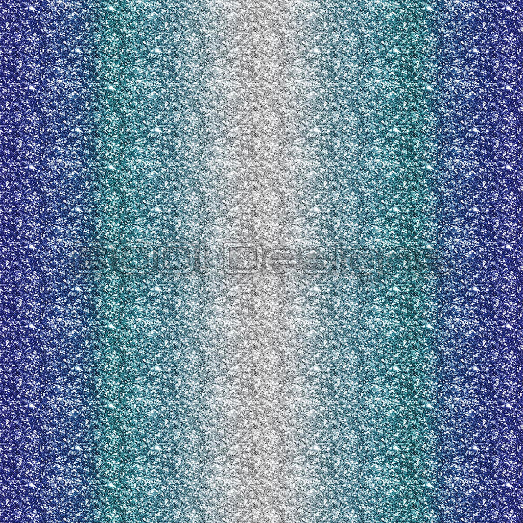 Spandex Glitz Ombre Royal Teal