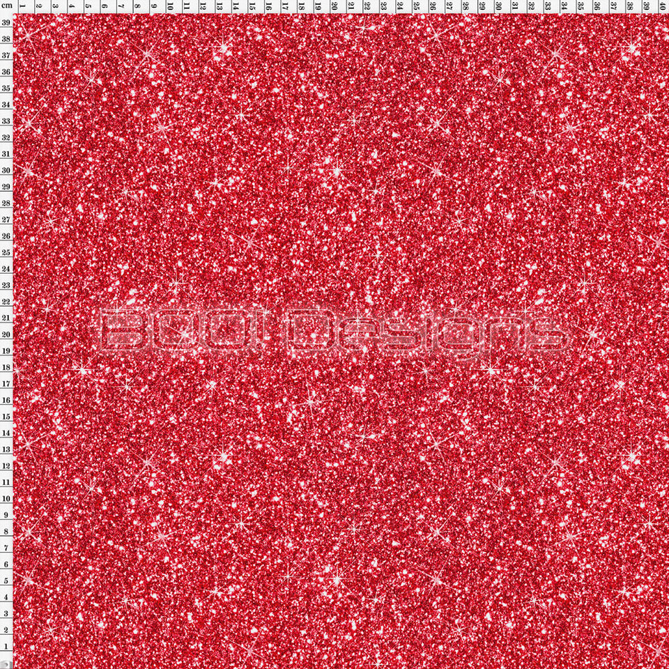 Spandex Printed Glitter Red