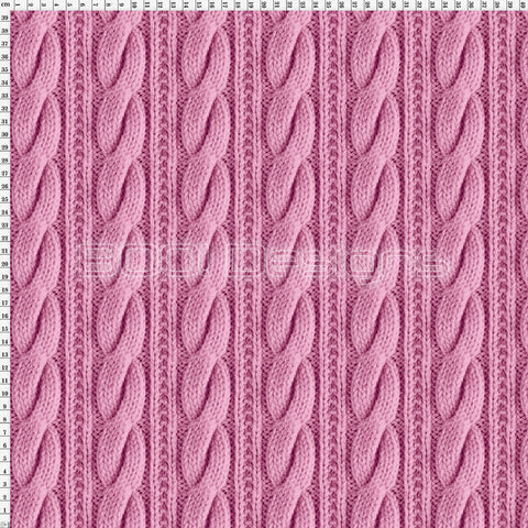 Spandex Printed Cable Knit Pink