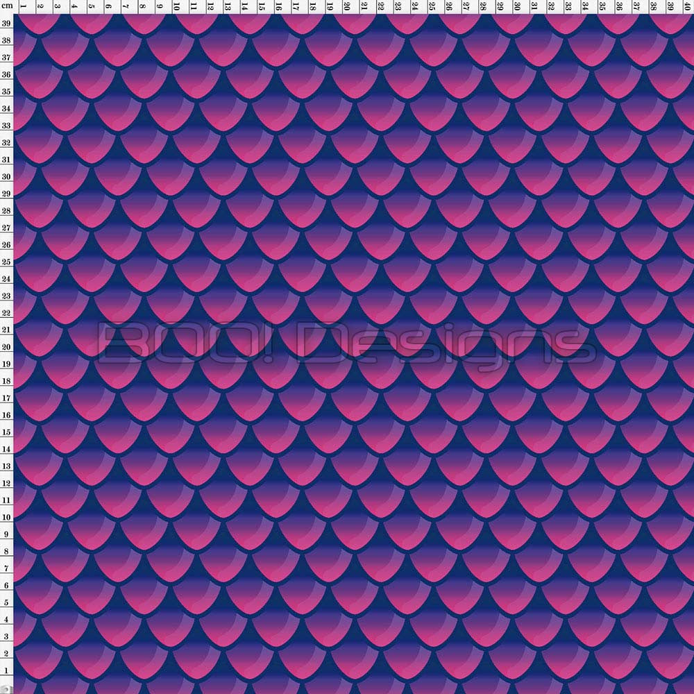 Spandex Mermaid Scales Pink/Navy
