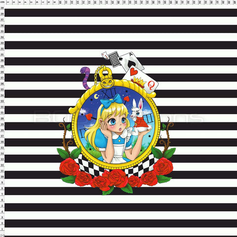 Spandex Panel Alice Stripe