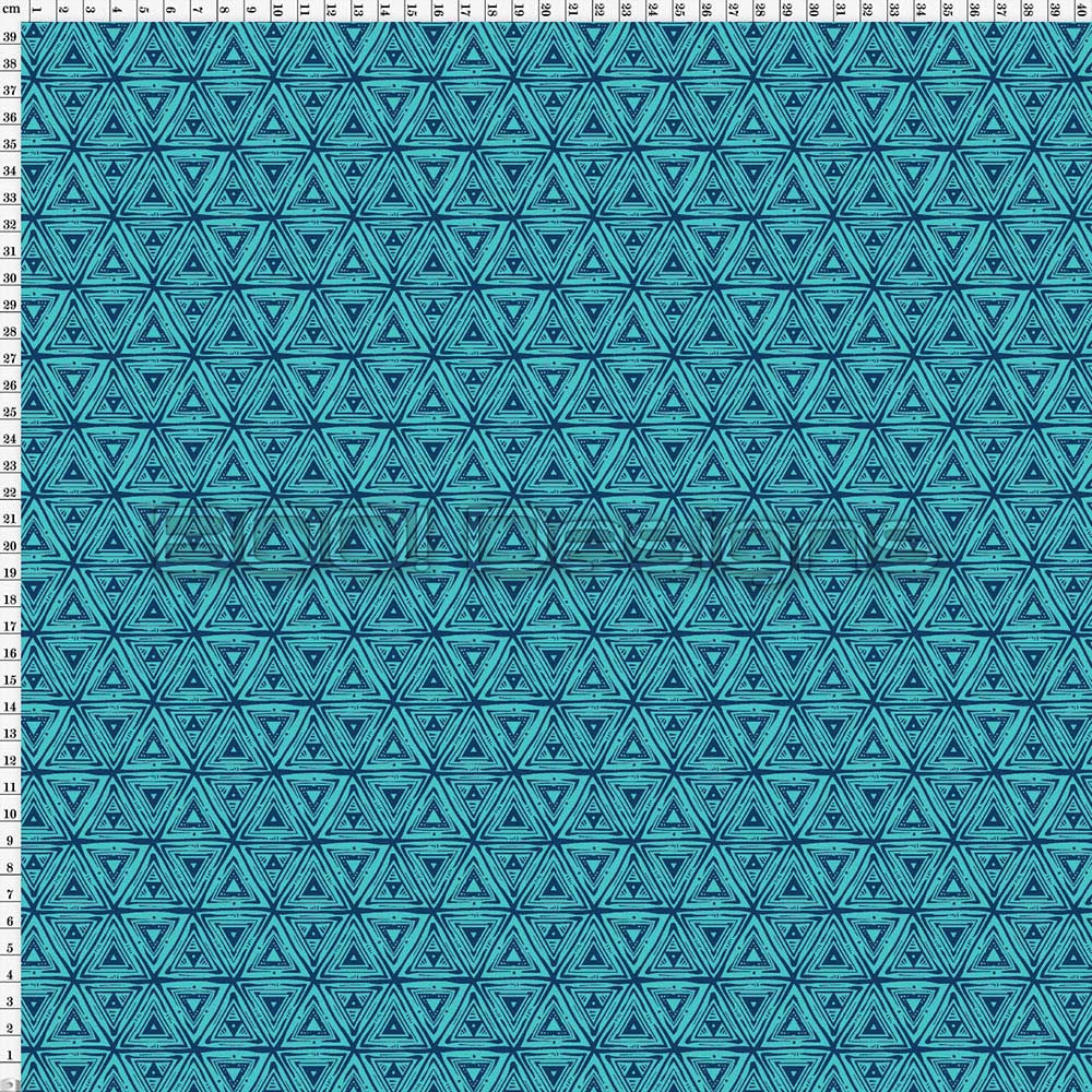 Spandex Roarsome Geo Teal