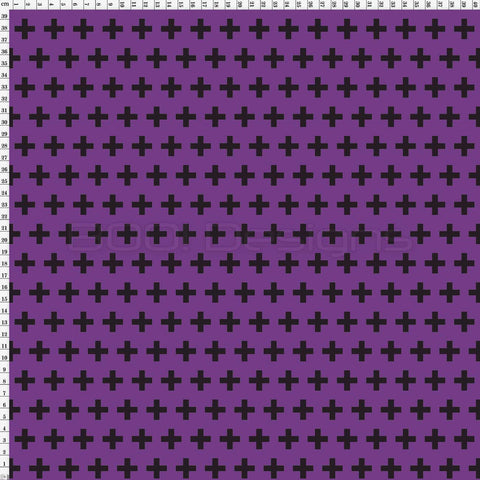 Spandex Swiss Cross Mini Purple