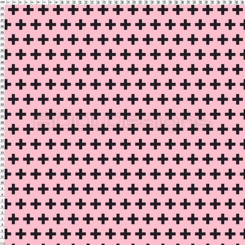 Spandex Swiss Cross Mini Soft Pink