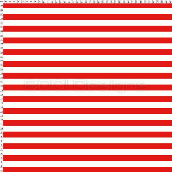 Spandex Stripes 14mm Red