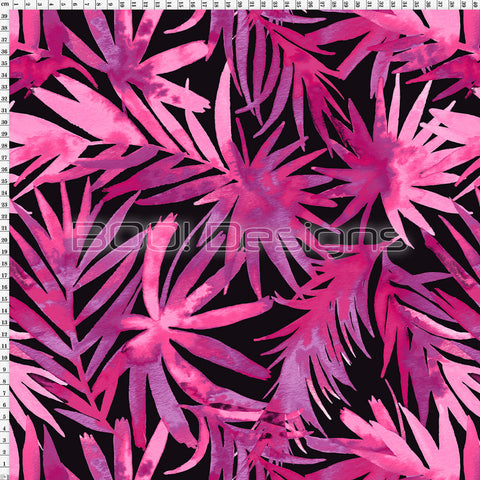 Spandex Water Palm Pink