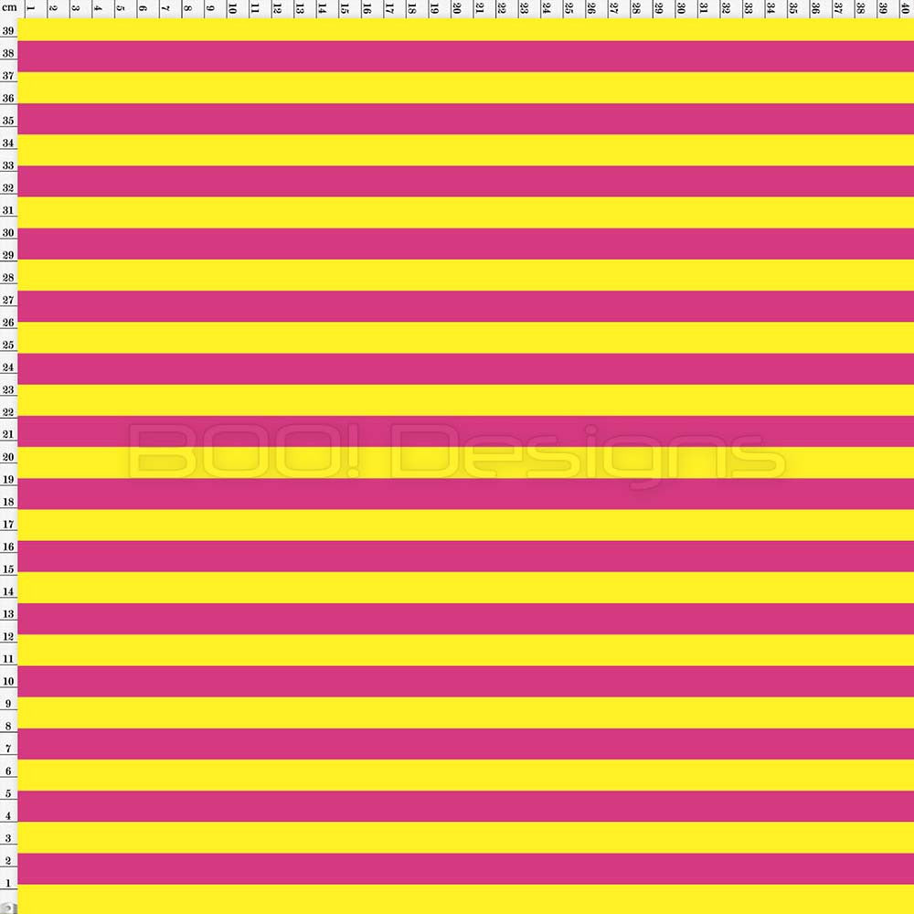 Spandex Stripes 14mm Yellow/Pink