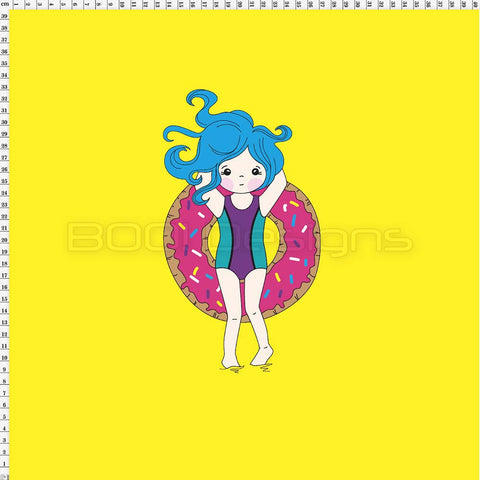 Spandex Panel Donut Float Yellow