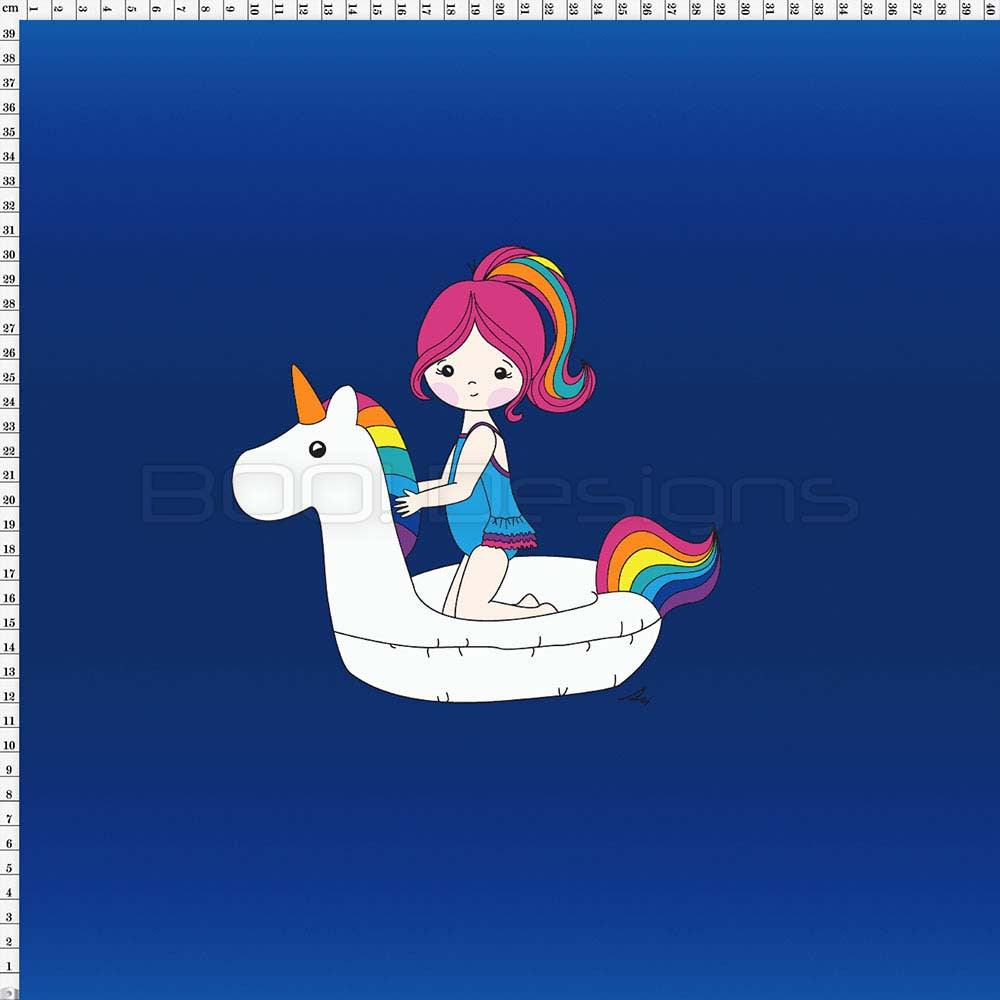 Spandex Panel Unicorn Float Royal